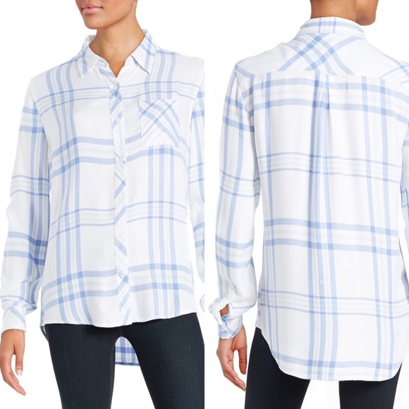 4b7ffb156f beachlunchlounge Tops | Plaid Charley Shirt In Sky | Poshmark